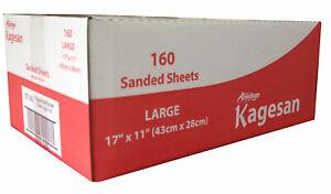 Kagesan Bulk Sanded Sheets Rouge 17 X 11 '' (43 28cm) (paquet de 160) 5000239271450