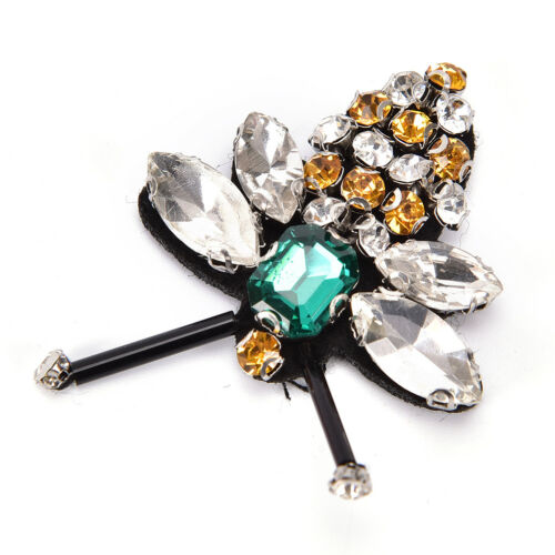 Bees Sequins Rhinestones Bead Brooch Patches Applique Sew on Beading AppliqueFJB