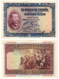 BILLETE-25-PESETAS-ALFONSO-XIII-FRANCISCO-JAVIER-1926-SIN-SERIE-XF-EBC