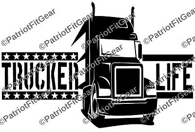 Semi Truck Decal Vinyl Decal Trucker Sticker Gift For Him TRUCKER DECAL Truck Driver Truck Yeah Decal Tractor Trailer Decal -