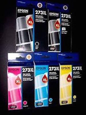 5-PACK Epson GENUINE 273XL Black & Color Ink (RETAIL BOX) XP-820