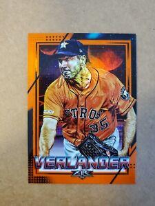 2020 Topps Fire Orange SP #d /299 Justin Verlander #170 Houston Astros