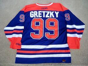 Vtg-Wayne-Gretzky-Edmonton-Oilers-NHL-CCM-Hockey-Jersey-Uniform-Size-XLarge-XL