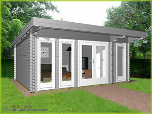 Das Bild Wird Geladen Gartenhaus 40mm Modern Aus Holz 5 1x3 9M