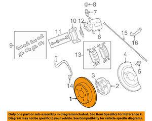 details about vw volkswagen oem 09 11 routan rear brake rotor 7b0615601b Brake System