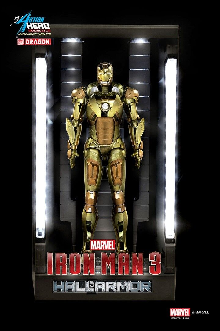 Dragon  38136 1 9  Iron Man 3-Hall of Armor Mk. XXI Midas Multi-Présentoir  économiser jusqu'à 70%