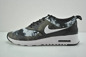 courir nike air force 1 - Women Nike Air Max Thea Print Running Shoes Size 9 Black White ...