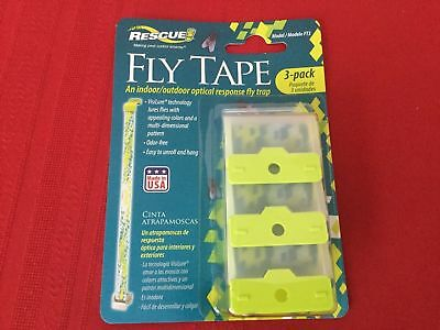 Animal Health & Veterinary Rescue Fly Tape 3 Pack Free Ship Fly Strip Fly Trap Agriculture & Forestry