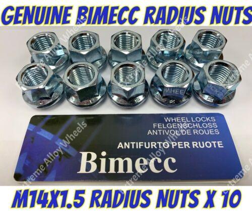 Alloy Wheel Nuts 19mm Radius nuts x 10 M14x1.5 Vauxhall Insignia Movano VXR8