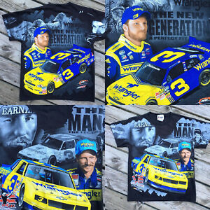 Dale-Earnhardt-Jr-Sr-2010-Double-Sided-Nascar-T-shirt-Chase-Authentics-Size-M