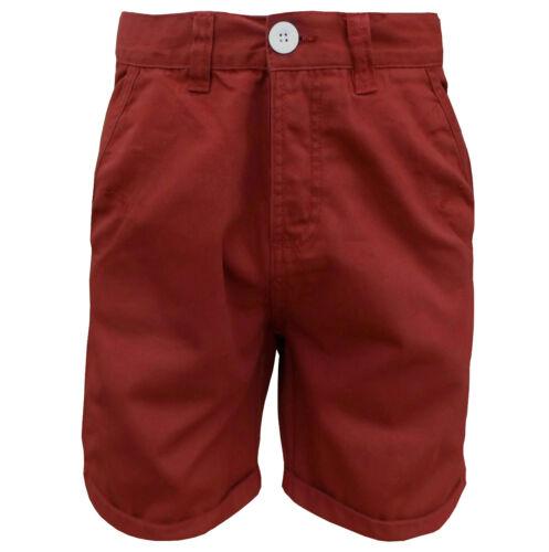 Soul Star Men/'s Melton Chino Shorts Reed Red
