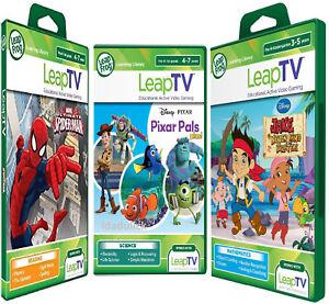 LeapFrog-leapTV-Active-Games-Pixar-Pals-amp-SPIDERMAN-amp-Jake-Pirates-New-sealed