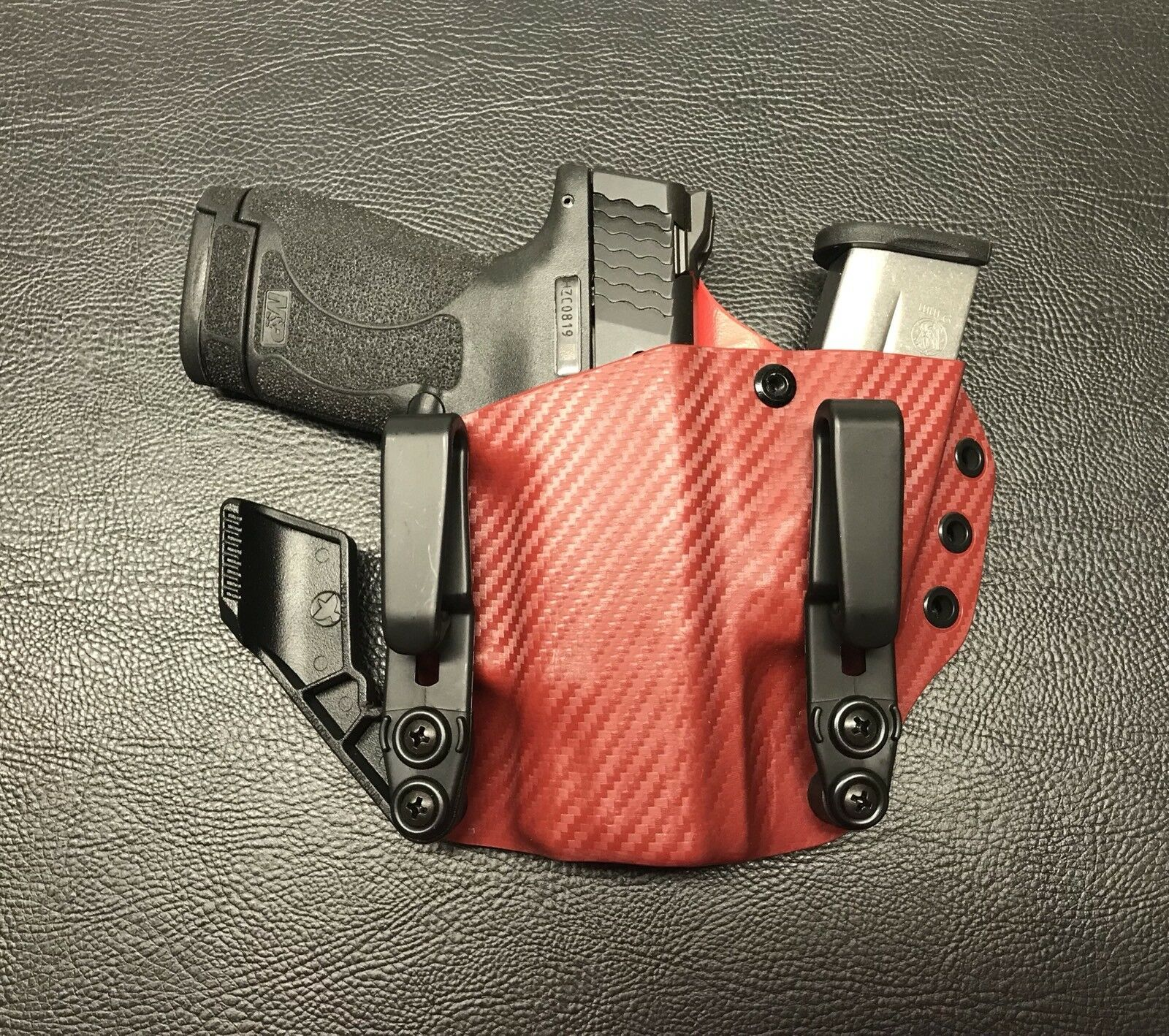 Smith & Wesson M&P Shield  Aiwb sidecar  Kydex Holster 9MM 40