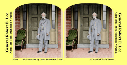 Lee Civil Confederate War SV Stereoview Stereocard 3D 03116 General Robert E