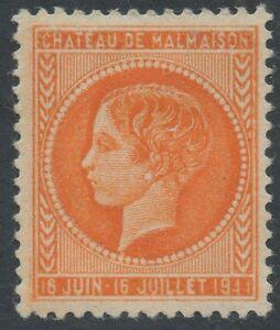 1944-FRANCE-Essai-Projet-Chateau-De-Malmaison-Timbre-Dentele-en-orange
