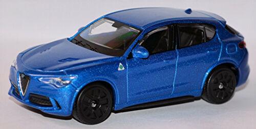 Alfa Romeo Stelvio type 949 SUV 2017-19 Bleu Blue Metallic 1:43 Bburago