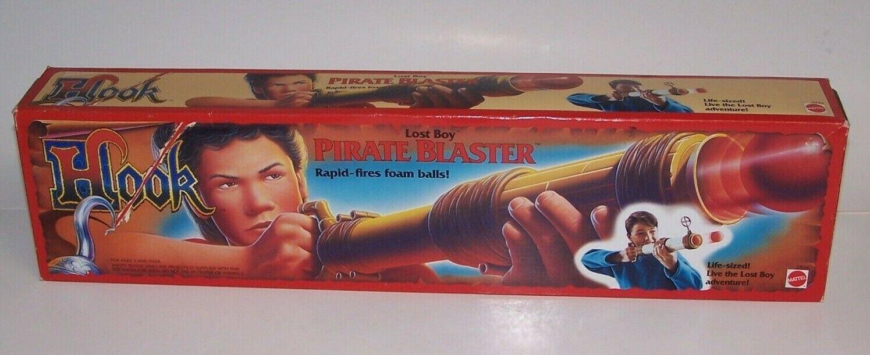 Captain Hook Lost Boy Pirate Blaster Rapid Fires Foam Balls Mattel 1991 NIB