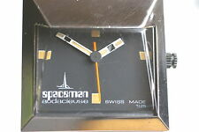 Spaceman rare Vintage Kultuhr der 1970'er Jahre Handaufzug Etui Stahlarmband