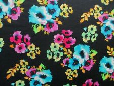 "2 yards 30"" stretch ponte de roma fabric beautiful floral print"