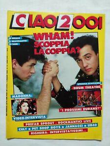 RARE-CIAO-2001-N-10-1986-INSERTO-MADONNA-WHAM-DRUM-THEATRE-RIGHEIRA
