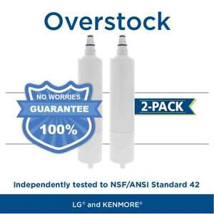 Fits LG 5231JA2006A LT600P Comparable Refrigerator Water Filter 2 Pack
