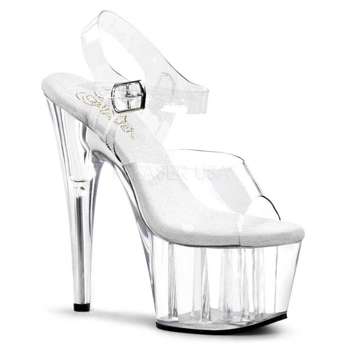 7  Clear Platform Basic Stripper Heels Exotic Exotic Exotic Pole Dance Fitness schuhe Adore-708 dd5420