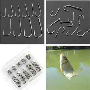 50PCS Fun Cool Perforated Hooks Box Assorted Fishing Sharpened Lure Tackle Hook