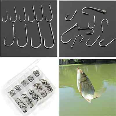 500Pcs Size 3-12 Perforated Hooks Box Fishing Sharpened Hook Lure Tackle Bait
