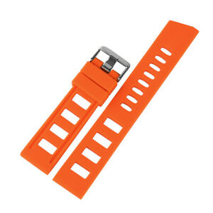 20mm-22mm-Rubber-Silicone-Black-Blue-Orange-Watch-Band-Strap-Replacement