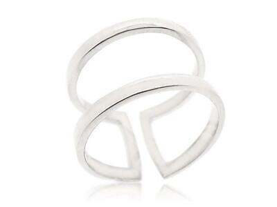 925 Sterling Silver Midi Find Adjustable Ring Double Line