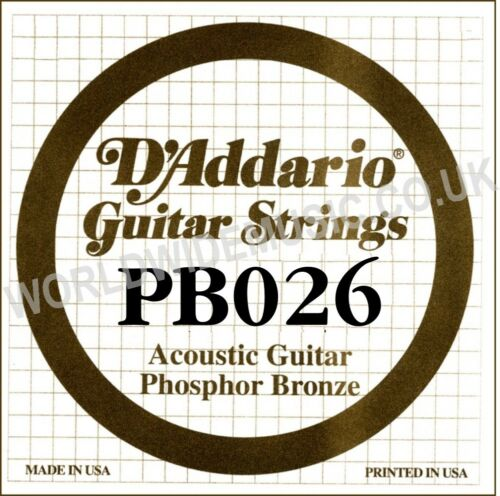 D/'ADDARIO stringhe di bronzo fosforoso per chitarra-singolo Stringhe calibri .059 .020