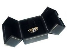 Lot Of 6 Black Double Door Ring Finger Jewelry Display Presentation Gift Boxes