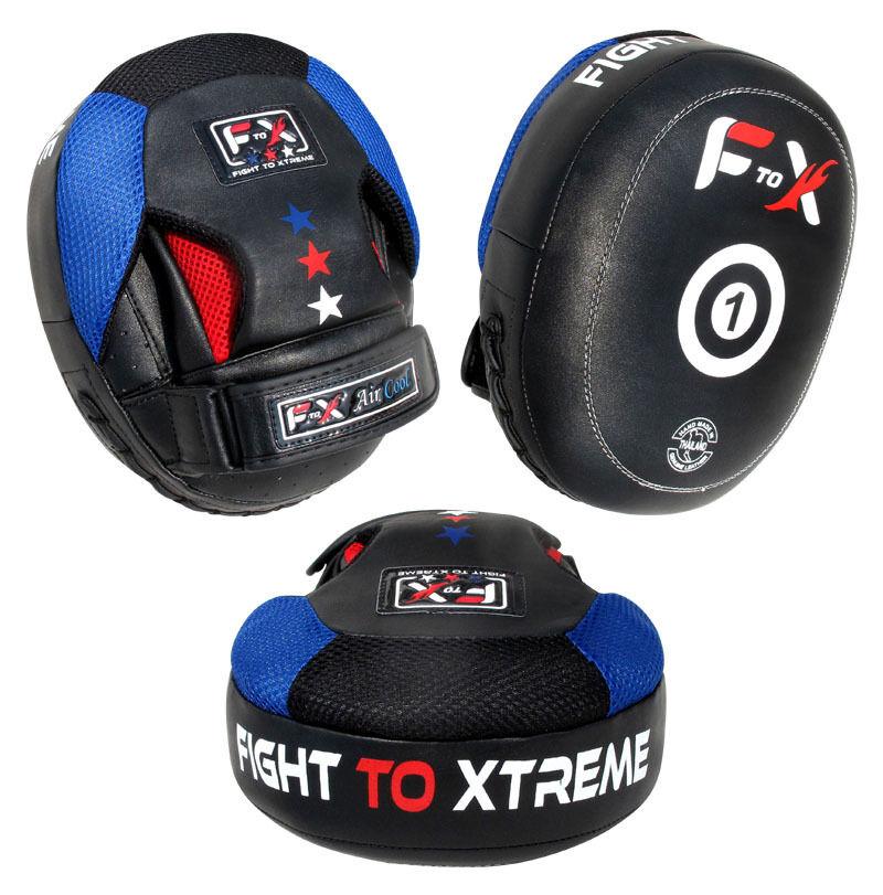 Focus Pads Leder Hook & Jab Pads Pads Jab Curved MMA UFC Training Punch Pads F T X 43c3f4