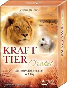 Krafttier-Orakel-64-Orakelkarten-u-Begleitbuch-Ein-liebevoller-Begleiter-im