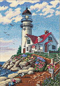 Details about Lighthouse Beacon Point Gold Collection Petites Dimensions  Cross Stitch Kit NEW