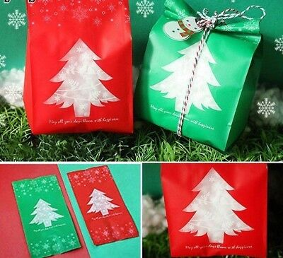 50 x SNOWFLAKE CELLO BAGS FOR CHRISTMAS GOODIES GIFTS SWEETS