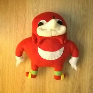 ugandan knuckles plush toy red handmade vrchat sonic meme de wey da