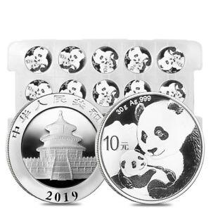 Sheet of 15 - 2019 30 gram Chinese Silver Panda 10 Yuan .999 Fine BU (Lot,Roll