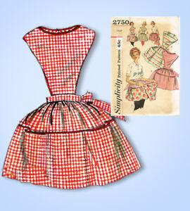 Années 1950 Vintage Simplicity Patron Couture 2750 Femmes Tablier ...