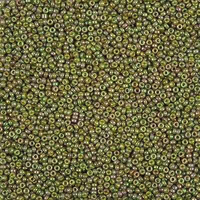 B88//15 Miyuki Size 15 Round Seed Beads 15-158 Transparent Olive Green 8.2g