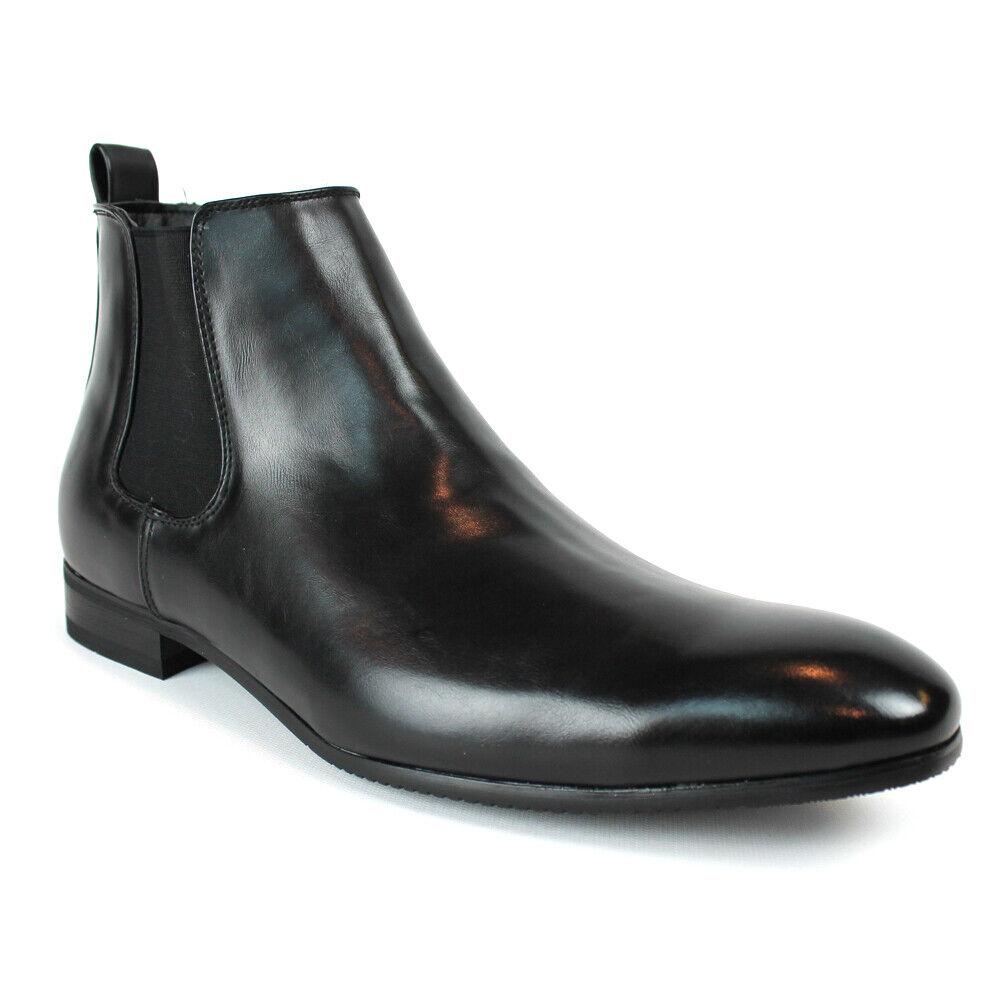 Black Men's Chelsea Boots Ankle Dress Side Zipper Closure ÃZARMAN New Fashion