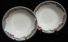 """LENOX CASUAL IMAGES """"COUNTRY TULIPS"""" SOUP/CEREAL BOWLS - SET OF 2 - NICE!"""