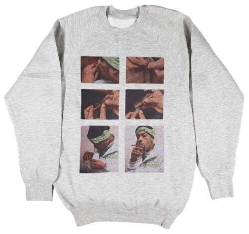 Redman How To Roll A Blunt Grey Sweatshirt Size S-XXL wu tang odb supreme weed