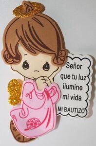 ec00c569f Recuerdos Para Bautizo Rosita Para Nina Pink Angel Party Favor Girl ...