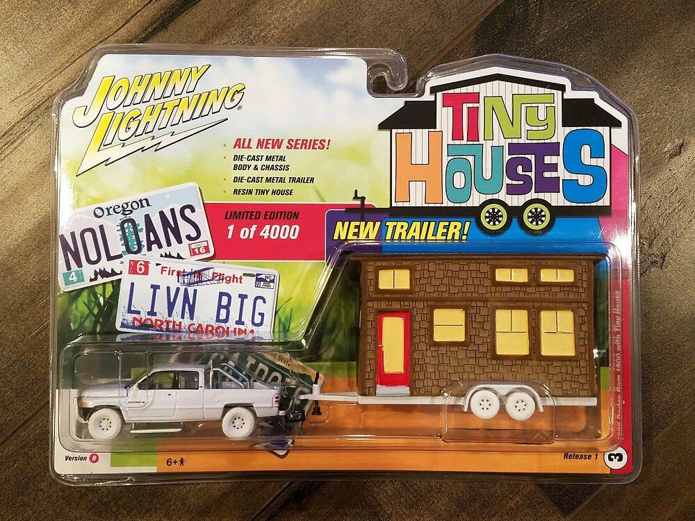 Johnny Lightning 1 64 1996 1996 1996 Dodge Ram 1500 With Tiny House JLTH001-B Chase Car 8f081c