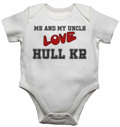 Me and My Uncle Love Hull Kr Baby Vests Bodysuits for Boys Girls Present Gift