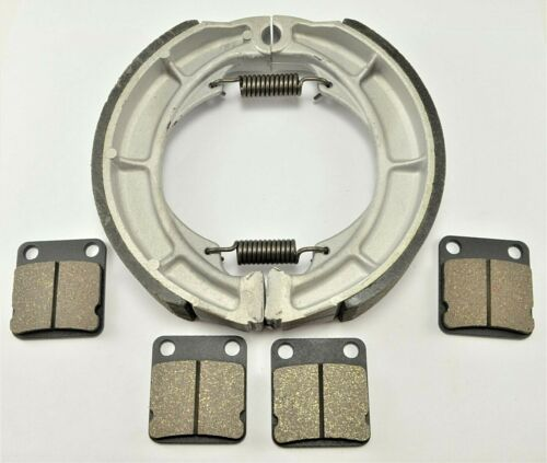 2002-05 BONDED FRONT PADS /& REAR BRAKE SHOES NEW SUZUKI EIGER 400 LTF400F 4x4