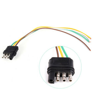 Details about Trailer Light Wiring Harness Extension 4 Pins Plug Wire on