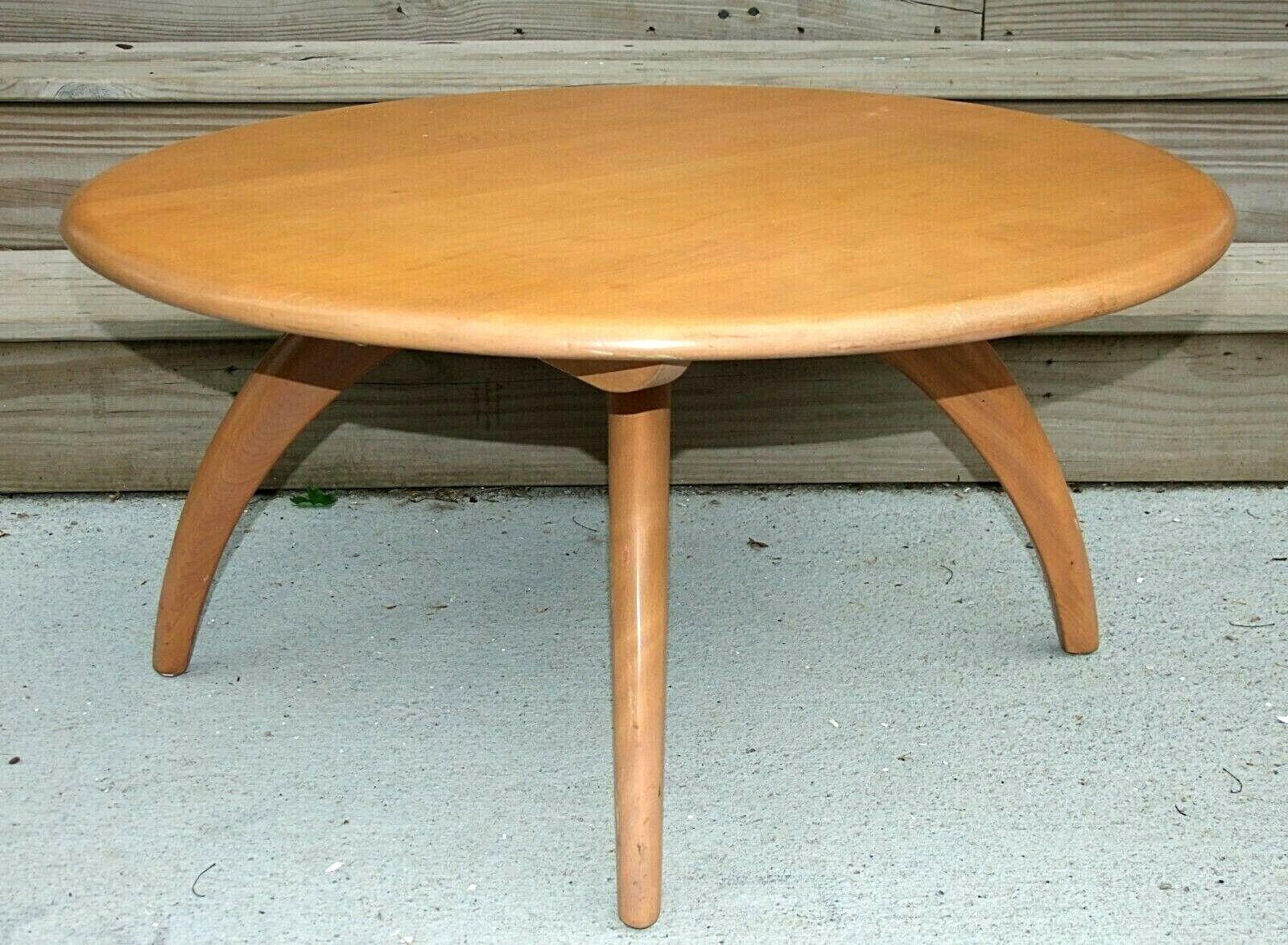 - Vtg Mid Century Mod Heywood Wakefield Wood Coffee Table For Sale