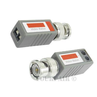 2pcs - 1 Pair CCTV Coax BNC Video Balun Transceiver Adapter CAT5e CAT6 to Camera